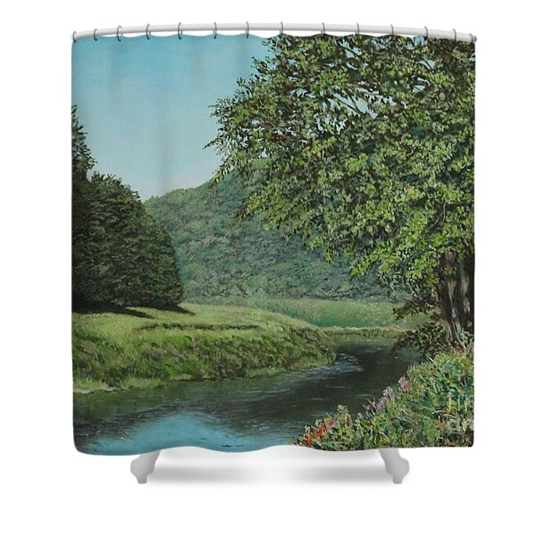 The Wye River Of Wales Shower Curtain