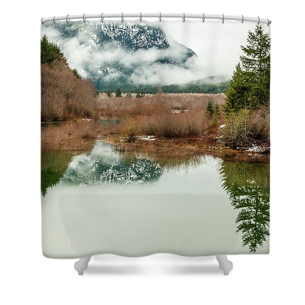 Thelwood Creek - Winter Shower Curtain