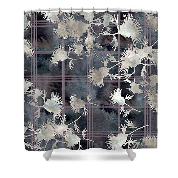 Thistle Plaid  Shower Curtain