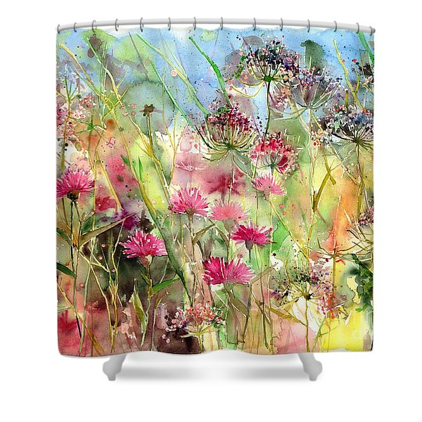 Thistles Impression II Shower Curtain