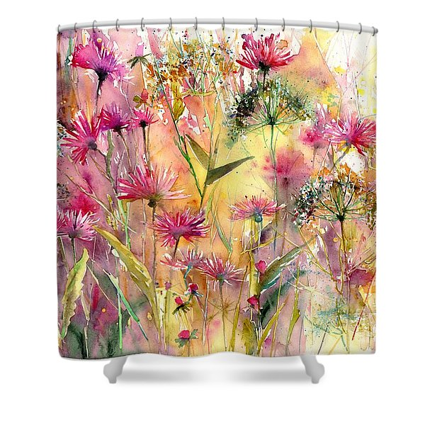 Thistles Impression Shower Curtain