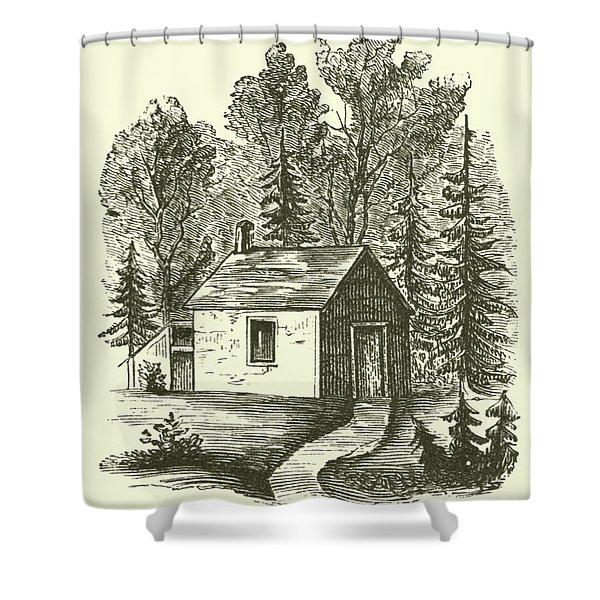 Thoreau's Hut, Walden Woods, Concord, Massachusetts Shower Curtain