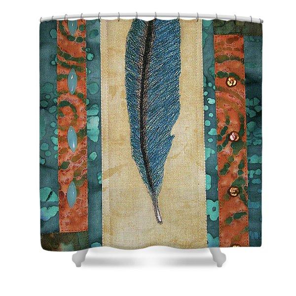 Threaded Feather Shower Curtain