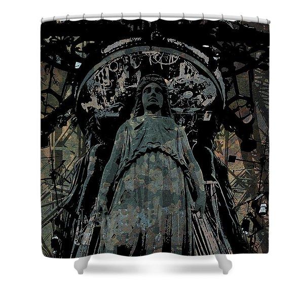 Three Caryatids Shower Curtain