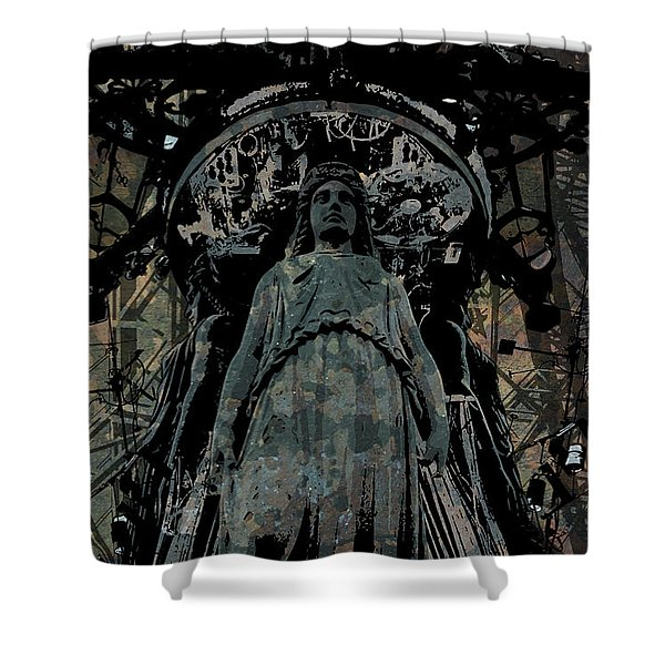 Three Caryatids Shower Curtain