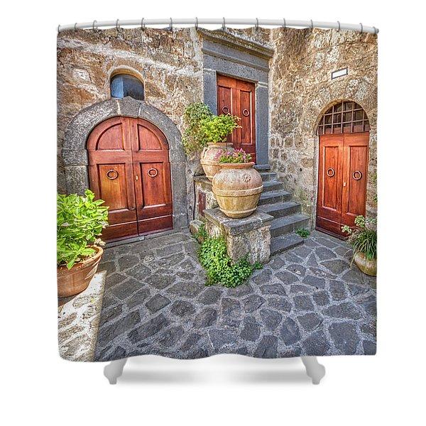 Three Doors Of Tuscany Shower Curtain