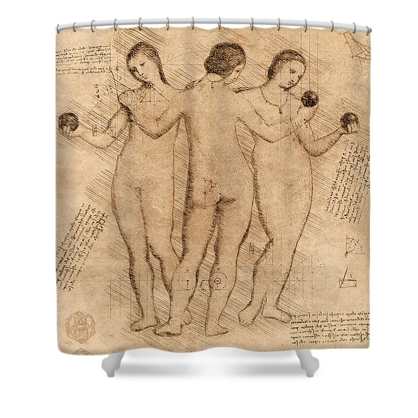 Three Graces - II Shower Curtain