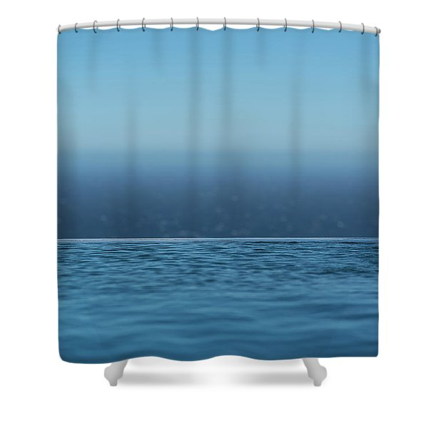 Shower Curtain featuring the photograph Three Layers Of Blue by Milan Ljubisavljevic
