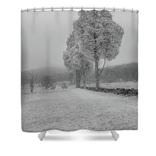 Three Sentinals Shower Curtain