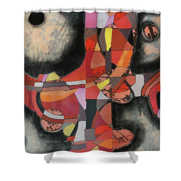 Thresher Shower Curtain
