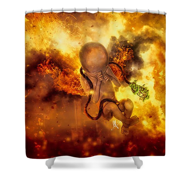 Through Ashes Rise II Shower Curtain
