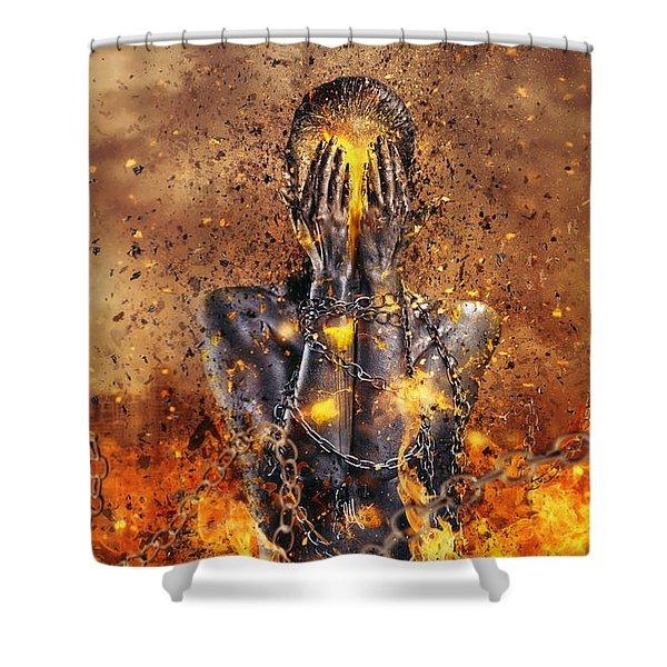 Through Ashes Rise Shower Curtain