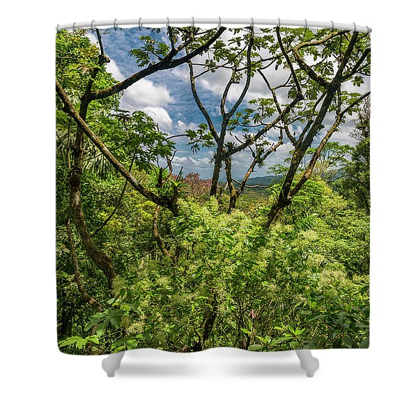 Through The Jungle Trees Shower Curtain
