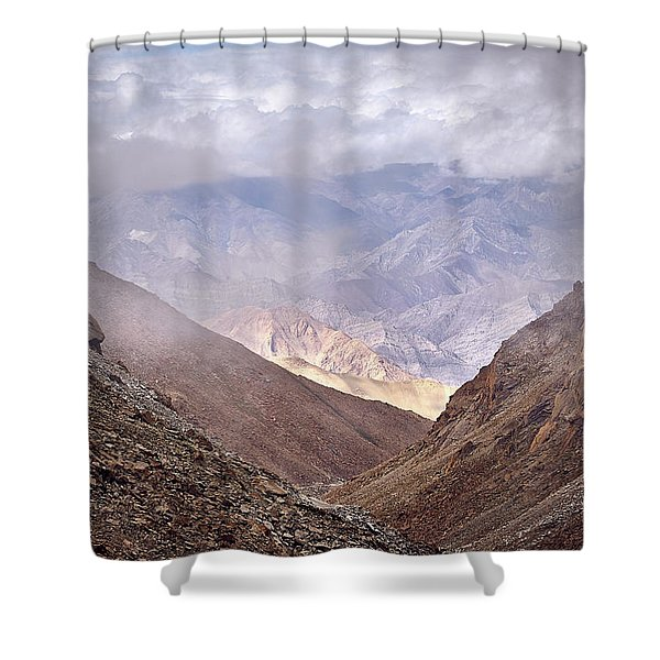 Shower Curtain featuring the photograph Through The Valley by Whitney Goodey