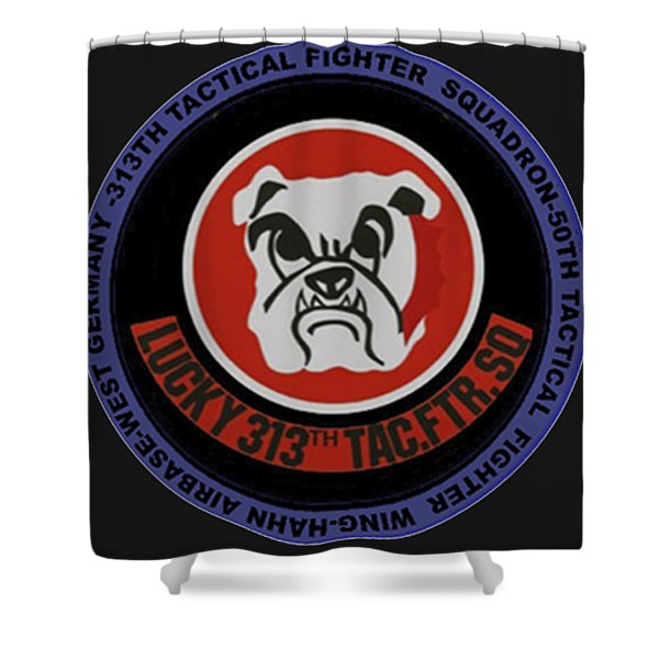 The 313th Tactical Fighter Squadron Shower Curtain