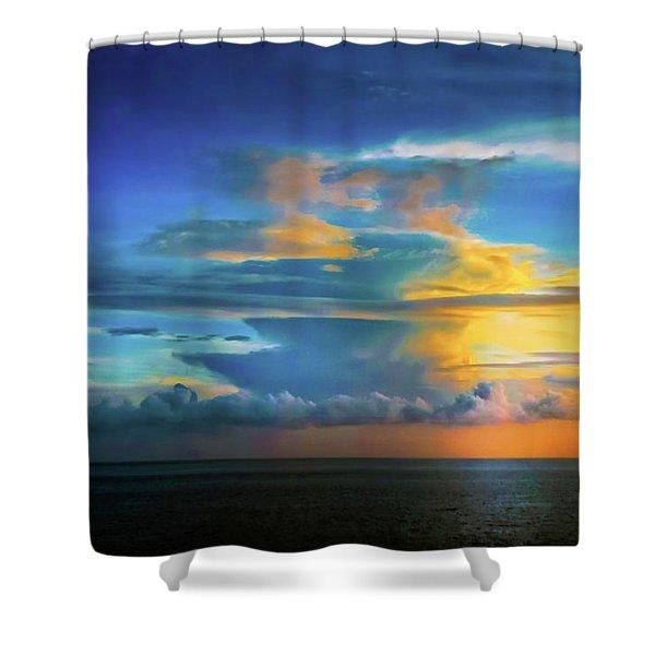 Thunder At Sun Set Shower Curtain