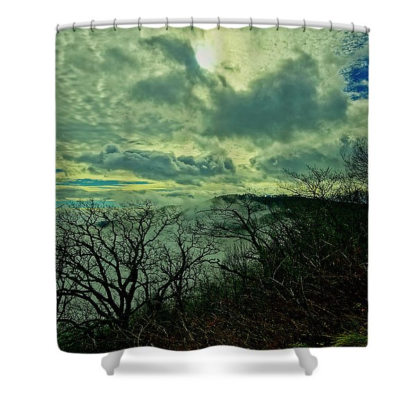 Thunder Mountain Clouds Shower Curtain