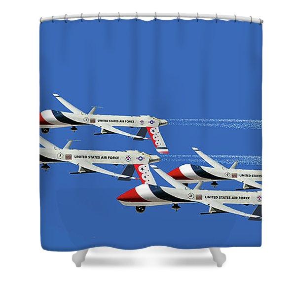 Thunderbird Drones Shower Curtain