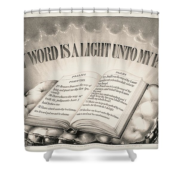 Thy Word Is A Light Unto My Path, 1872 Shower Curtain
