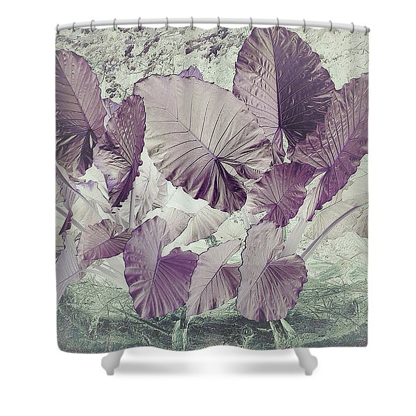 Shower Curtain featuring the digital art Borneo Giant Abstract by Robert G Kernodle
