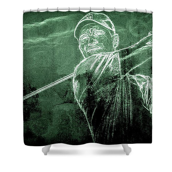 Tiger's On The Green Shower Curtain