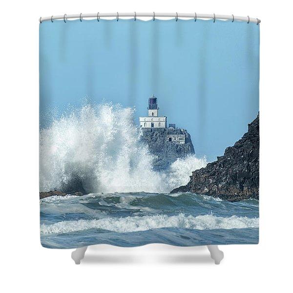 Tillamook Rock Light House, Oregon - Terrible Tilly Shower Curtain