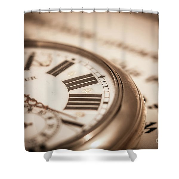 Time And Words Shower Curtain