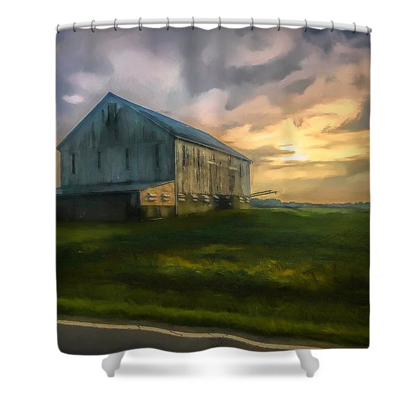 Time To Wake Shower Curtain