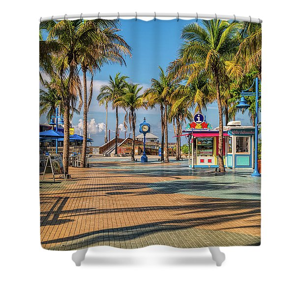 Times Square In Fort Myers Beach Florida Shower Curtain