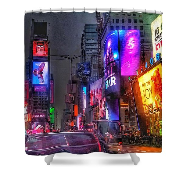 Times Square - The Light Fantastic 2016 Shower Curtain