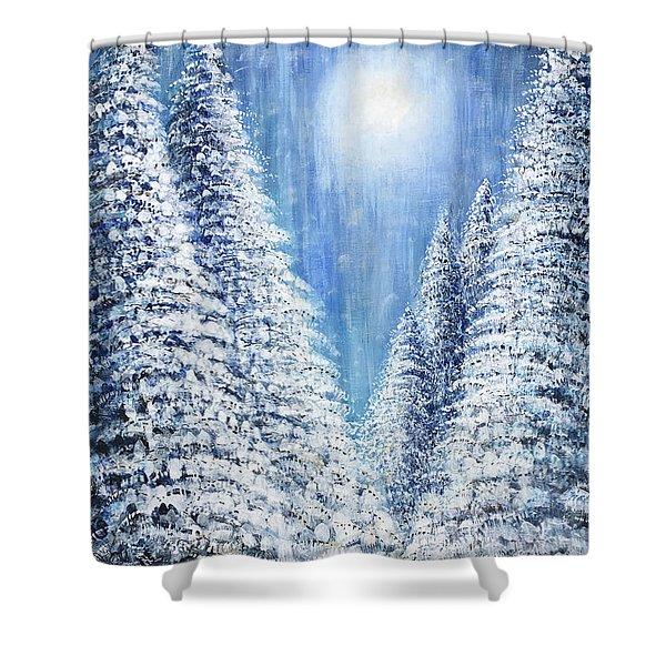 Tim's Winter Forest 2 Shower Curtain