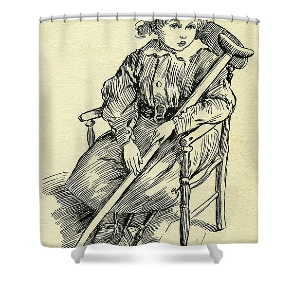 Tiny Tim From A Christmas Carol By Charles Dickens Shower Curtain