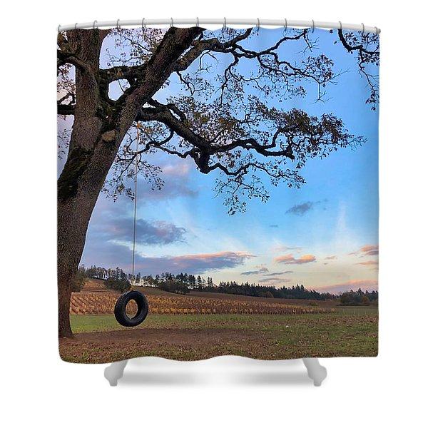 Tire Swing Tree Shower Curtain