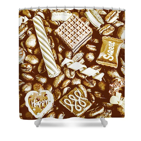Toffee And Coffee Shower Curtain