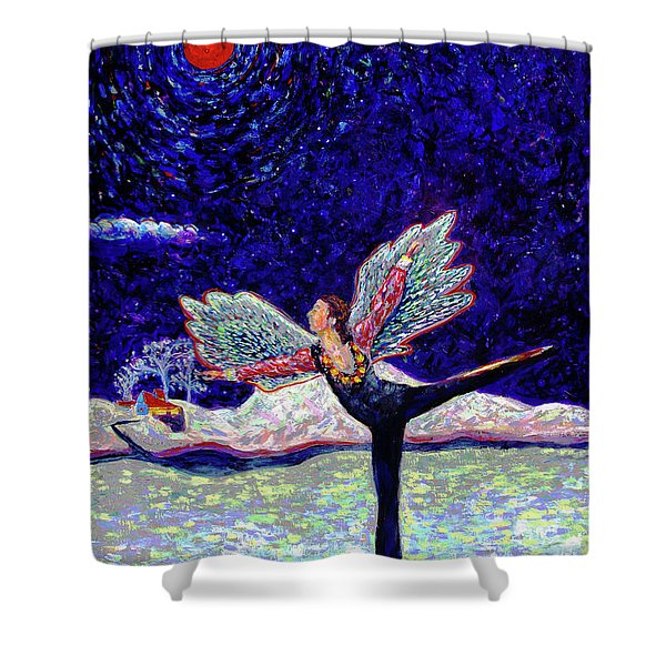 Toller In Heaven Shower Curtain