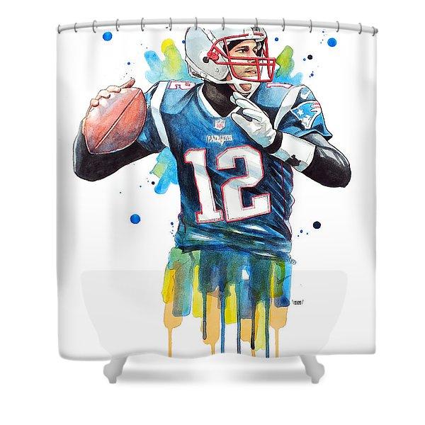 Tom Brady, Patriots, Nfl Shower Curtain