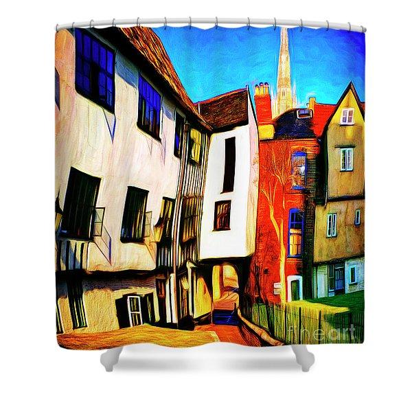 Tombeland Alley Shower Curtain
