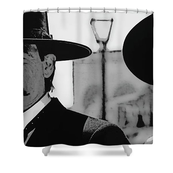 Tombstone Earp Holliday Shower Curtain