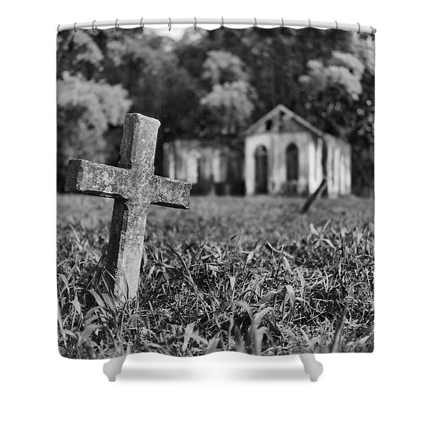 Tombstone, St. Chad's, Trinidad Shower Curtain