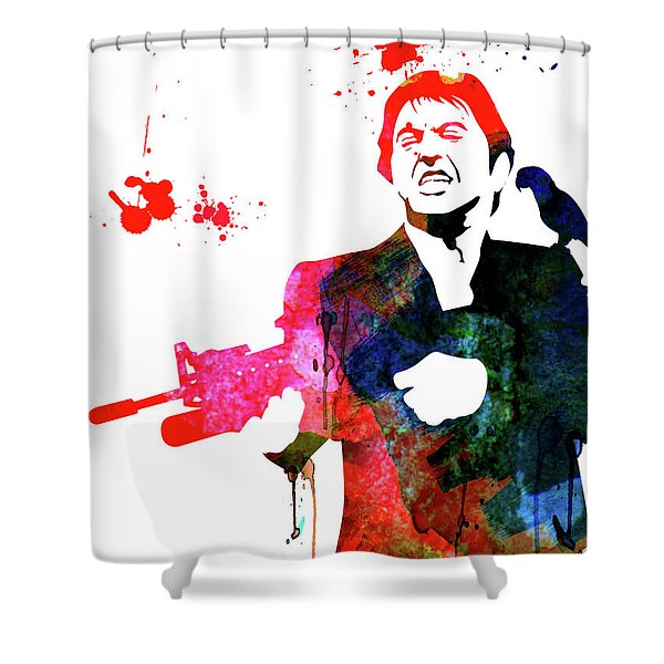 Tony Watercolor Shower Curtain