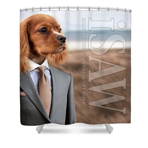 Shower Curtain featuring the digital art Top Dog Magazine by ISAW Company
