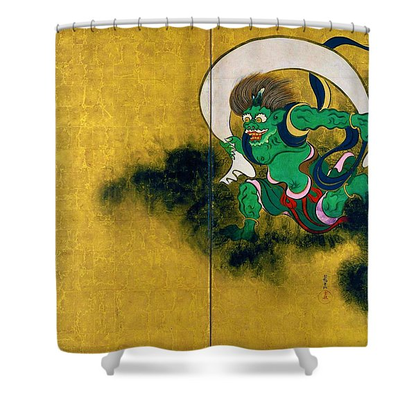 Top Quality Art - Wind God And Thunder God - Wind God Shower Curtain