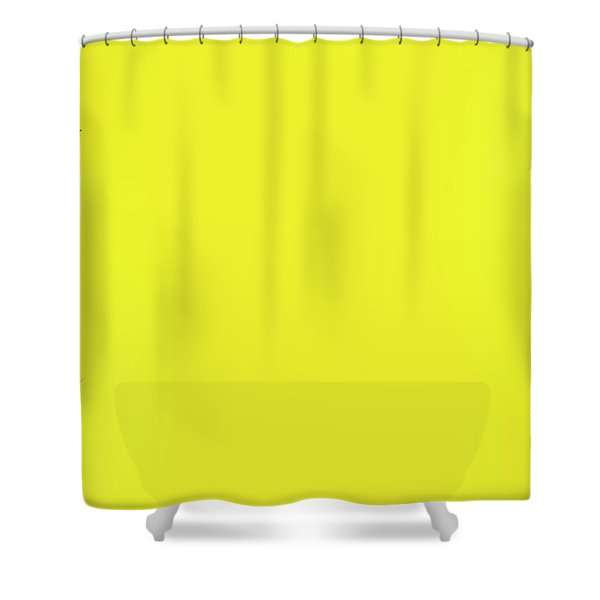 Top View Of Pineapple Border On Bright Yellow Background. Vivid  Shower Curtain