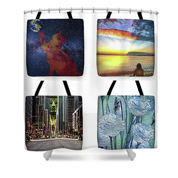 Tote Bags Samples Shower Curtain