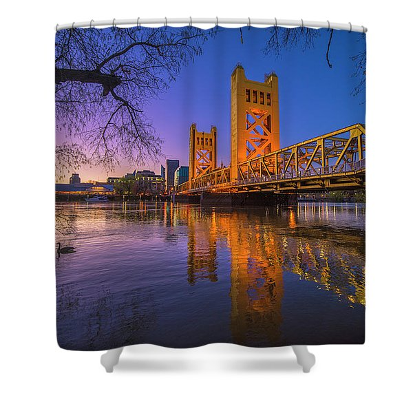 Tower Bridge At Sunrise - 4 Shower Curtain