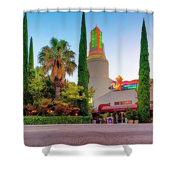 Tower Cafe Dusk- Shower Curtain