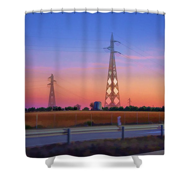 Towers On The Road Shower Curtain
