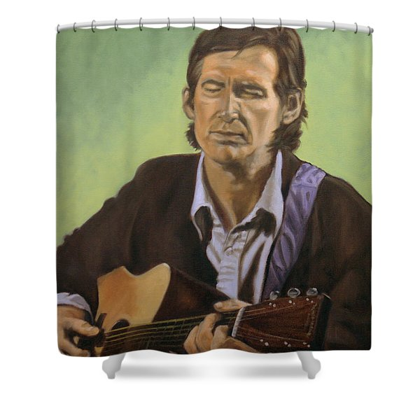 Townes Van Zandt Shower Curtain