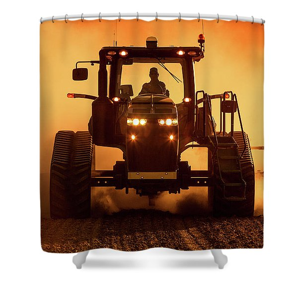 Tractor And Dust Shower Curtain