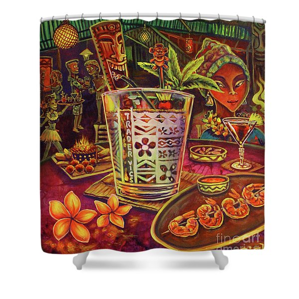 Trader Vic Mai Tai Shower Curtain